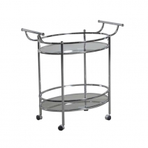 Powell Chrome Round Service Cart