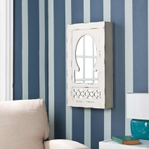SEI Gilmore Shabby Chic Wall Mount Jewelry Mirror