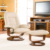 SEI Bonded Leather Recliner - Taupe