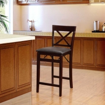Linon Triena X Back Folding Stool - 2 Heights