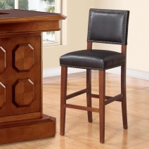 Linon Brook Black Stool - 2 Heights
