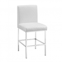 *AVAIL 3/15 Linon Clarey White Quilted Diamond Stool - 2 Heights