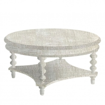 Powell Cypress Cocktail Table - White