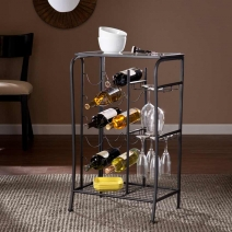 SEI Marengo Wine Rack Storage Table - 2 Finishes