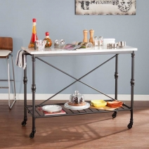 *AVAIL 7/20 SEI Morenci Kitchen Cart