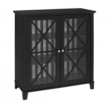Linon Rature Awning Stripe Large Cabinet