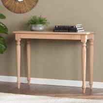 SEI Harwich Unfinished Wood Console Table