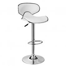 Powell White Adjustable Barstool