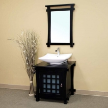 Bellaterra 30 inch Single Sink Wood Vanity
