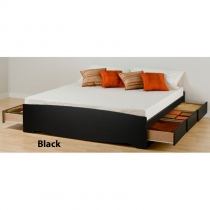 Prepac King Platform Black Storage Bed (3 Finishes)