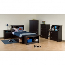 Prepac Sonoma Boys 7 pc. Black Bedroom Set