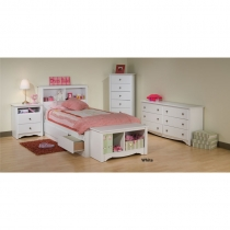 Prepac Monterey Girls White Bedroom Set