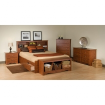 Prepac Monterey Master 6 pc. Cherry Finish Bedroom Set