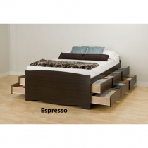 Prepac Tall Double Platform Storage Bed (3 Finishes)