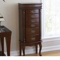 SEI Jewelry Armoire - Medium Mahogany