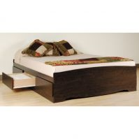 Prepac Manhattan Espresso Finish Queen Platform Storage Bed (3 Finishes)