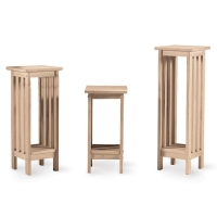 IC Unfinished Mission Style Plant Stand in 3 sizes