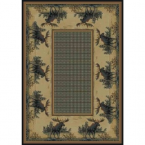 *United Weavers Hautman Northwood Moose Room Size Rug