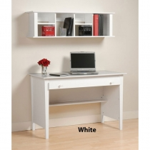 Prepac White Computer Desk/Wall Mounted Desk Hutch Combo (4 Finishes)