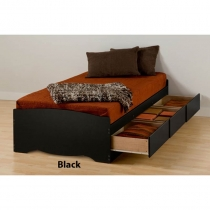 Prepac Sonoma Black Twin XL Storage Bed (2 Finishes)