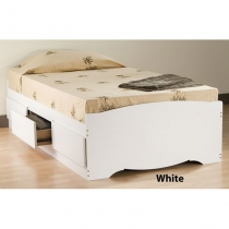 Prepac Monterey Twin Platform Storage Bed  (3 Finishes)