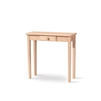 IC Unfinished Hall Table with Drawer