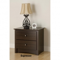Prepac Fremont Espresso Night Stand- 2-Drawer