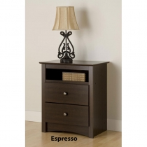 Prepac Fremont Espresso Tall 2-Drawer Night Stand