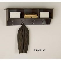 Prepac 48 in. Espresso Entryway Cubbie Shelf