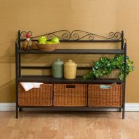 Holly & Martin Petaluma 3-Drawer Bakers Rack