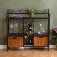 Holly & Martin Petaluma Bakers Rack with Wine Storage