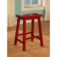Powell Crimson Red Counter Stool