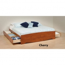 Prepac King Cherry Platform Storage Bed  (3 Finishes)