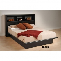 Prepac Black Platform Bed in Full or Queen Size (3 Finishes)