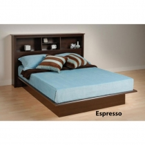 Prepac Espresso Platform Bed Full/Queen Size  (3 Finishes)