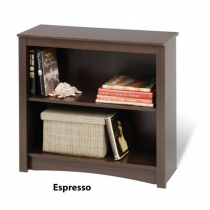 Prepac Espresso 2-Shelf Bookcase (3 Finishes)