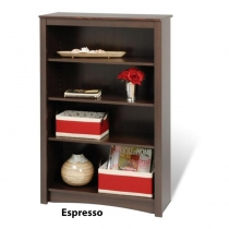 Prepac Espresso 4-Shelf Bookcase (3 Finishes)