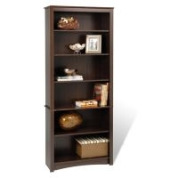 Prepac Espresso 6-Shelf Bookcase (3 Finishes)