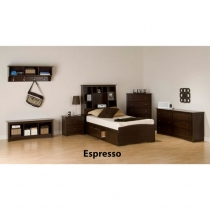 Prepac Fremont Espresso Youth 7 pc. Bedroom Set