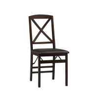 Linon Triena X Back Folding Chairs - Set of 2
