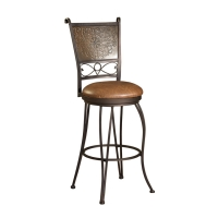 Powell Bronze with Muted Copper Stamped Back Counter Stool