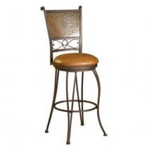Powell Bronze with Muted Copper Stamped Back Stool