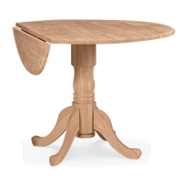 IC Unfinished Dual Drop Leaf Table in 2 sizes