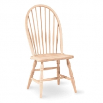 IC Unfinished Tall Spindleback Windsor Side Chair