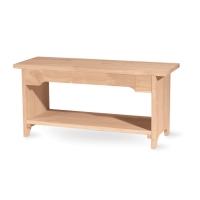 IC Unfinished Brookstone 48 inch Bench