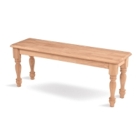 IC Unfinished Farmhouse Bench