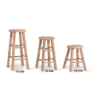IC Unfinished Roundtop Stool