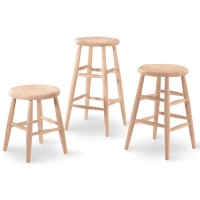 IC Unfinished Scooped Seat Stool