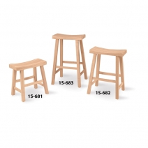 IC Unfinished Saddle Seat Stool
