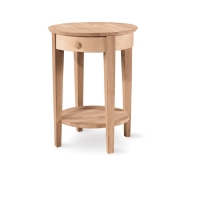 IC Unfinished Phillips Accent Table w/Drawer